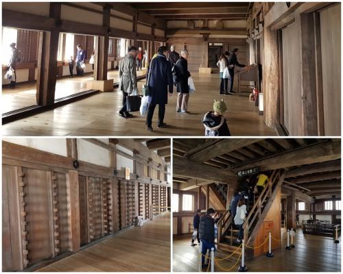 Inside the Himeji Castle keep