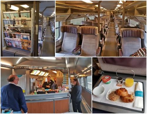 Interior of Eurostar train
