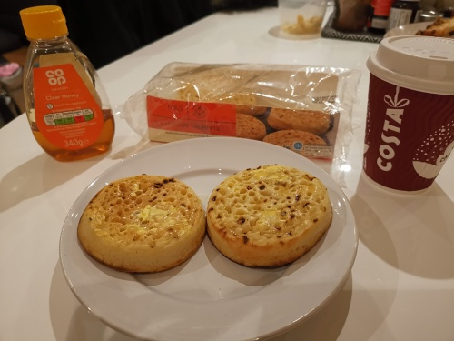 Crumpets for breakfast